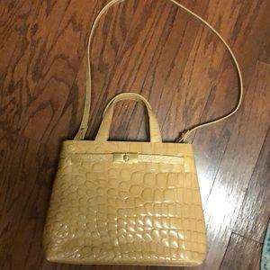 Furla croc handbag